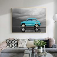 Wholesale car art oil paintings for sale - Group buy Modern Classical Wall Art Canvas Painting Vintage Car Poster Prints Retro Wall Pictures for Living Room Kids Room Home Decoration