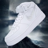 Wholesale white air forces high top for sale - Group buy Walker air force No AF1 leather high top men s shoes small white shoes sports shoes