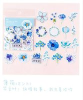 Wholesale japanese school supplies for sale - Group buy 45 Pack Kawaii Japanese Decoracion Journal Cute Diary Flower Stickers Scrapbooking Flakes Stationery School Supplies sqcwBm