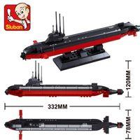 Wholesale sluban toys resale online - Sluban B0391 Nuclear Submarine Army Navy Warship Diy Model Building Blocks Kids Bricks Toys Christmas Gift bbyifB homebag