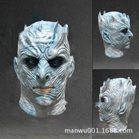 Wholesale ghost figures resale online - Fx2VV Halloween and cos night television mask film game King clothing clothingdance dresshorror figure Carnival Dance Costume ghost King mask