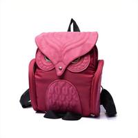 Wholesale purple owl backpack for sale - Group buy Fashion Vintage Owl Elegant Women Men Bag Backpack Women Backpack Travel Shoulder Bag Rucksack