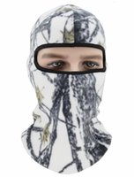 gorro máscara facial del cráneo al por mayor-Winter Warmer Face Mask Thermal Fleece Ski Tactical Balaclava Skull Hat Outdoor Ciclismo Motocicleta Cuello Cálculo Camo Máscaras Beanie