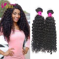 Wholesale xblhair resale online - XBLHair Human Long Hair Curly Bundle Hair Factory Bundle Packs Weave Good Feedback Virgin Full Cuticle Aligned Baby Hair Extensions