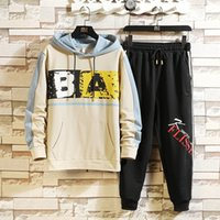 Wholesale hat studs for sale - Group buy 9ibJe Men s school sweater sweaterand style new long sleeved sweater Korean Autumn loose leisure sports two piece set junior high Spring stud