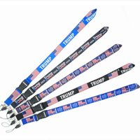 Wholesale key make for sale - Group buy American Election Trump Lanyards Keychain USA Flag Make America Great Again Key Ring Straps for mobile phone or Cards EWB1415