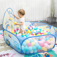 Wholesale ocean ball pit resale online - Kids Ocean Ball Pool Toys Baby Play Tent With Basketball Pit Pool Convenient Carry Outdoor Toy Game Children Ocean Ball Tent wmtvJa otsweet