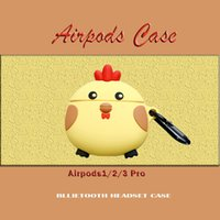 Wholesale apple chicken resale online - Ready StockSilicone AirPods Case Cartoon Cartoon chicken Waterproof Shockproof Protective Cover Earphone for Apple Airpods Pro