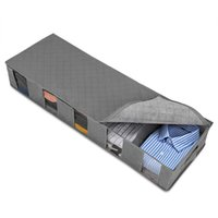 Wholesale organizer clothes bags for sale - Group buy Foldable Under Bed Bags x33x15cm Large Under Bed Storage Boxes Sealed Dust proof Underbed Clothes Storage Bags Zipper Organizer VT1781