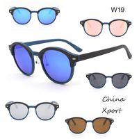 Wholesale glasses frames stylish for women for sale - Group buy ecofriendly handmade wooden sunglasses UV400 polarized lens eye protection sun glasses round frames for men women nice stylish