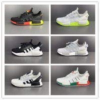 Wholesale runners mens shoes for sale - Group buy Top quality NMD R1 V2 runner running shoes mens women sneakers scarpe metallic gold red carbon shock iridescent japan trainers
