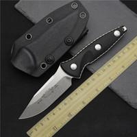 Wholesale High quality MICRO TECH Socom Alpha Mini Straight knife D2 Blade G10 handle Kydex sheath Tactical knife Survival gear knives