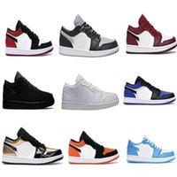 Wholesale online fabrics store for sale - Group buy 2020 s Gold Royal Black Toe Triple Black White Shadow SB UNC Basketball shoes for sale With Box Online Store US4 US11