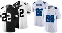 Wholesale derrick henry for sale - Group buy Tennessee Titans Men Derrick Henry Team Logo Dual Overlap NFL Women Youth Black White Two Tone Limited Jersey
