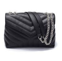 Wholesale evening tote bags for sale - Group buy LOULOU high quality new large leather fashion evening bag female reverse shoulder handbag round messenger bag
