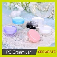 Wholesale ps eye resale online - Sedorate G Plastic Jar for Eye Cream Contain G PS Case Cosmetics Travel Case G Black Lid ZM015