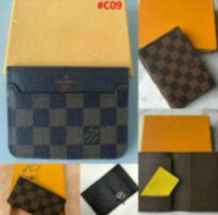 Wholesale denim letters resale online - European Style Hot Designer Wallet Card holders more letter credit mens and womens wallet coin purse