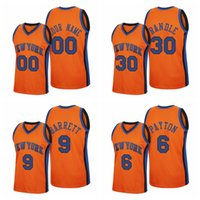 Wholesale julius resale online - Custom Men R J Barrett Elfrid Payton Bobby Portis Julius Randle Reload Classic Orange New York Knicks NBA Jersey