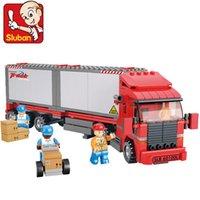 Wholesale sluban toys resale online - Sluban New B0338 Double Container Freight Car Diy Model Building Blocks Bricks Kids Toys Gift Diy wmtaIK xhlove