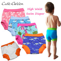Wholesale diaper pants for babies resale online - High Waist Baby Swim Diaper For Baby Swimming Reusable Swimming Diapers Baby Nappies Washable Pool Pant Baby Cloth Diaper Nappy LJ201026
