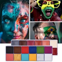 Wholesale blood sets for sale - Group buy Body Art Oil Painting Face Paint Halloween Makeup Set Special Effects Stage Makeup Fake Blood Body Paint Henna Tattoo Waterproof