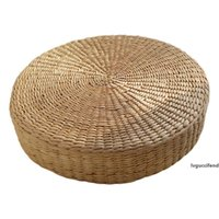 Wholesale handmade chairs for sale - Group buy HOT SALE cm Tatami Cushion Round Straw Weave Handmade Pillow Floor Yoga Chair Seat Mat Cat Mat