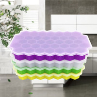 Honeycomb Silicone with Lid Ice Tray 37 Grids Ice Maker Honeycomb Ice Tray Honeycomb Cube Mold Cube Maker