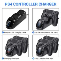Wholesale sony dualshock 4 wireless controller for sale - Group buy 100 Ps4 Pro Slim Dual Wireless Controller Charger Play Station Fast Charging Dock Station For Sony Ps Dualshock wmtjbH dh_niceshop