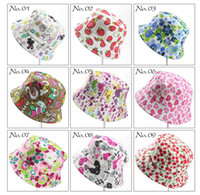 Wholesale baby girl bucket hats for sale - Group buy Children Bucket Hats Kids Sun Hat Floral baby sunhat kids Fishing Caps Baby Fisherman Hats Cartoon kids beach sun hats Colors