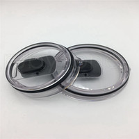 Wholesale stainless steel magnets resale online - 30oz oz Magnetic Lids Magnet Clear Lids Cover Cars Beer Mug Splash Spill Proof Covers for Stainless Steel Tumbler RRA3821