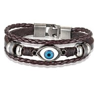 Wholesale evil eye jewelry for men for sale - Group buy Xqni Multi layers Neo gothic Pattern Evil Eye Design Leather Bracelet For Men Personality Jewelry Accessories Birthday Gift sqcloz