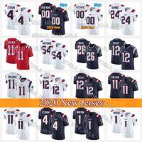 Wholesale randy white jerseys for sale - Group buy Custom Mens New England Patriots Football Jerseys Gordon Cam Newton Randy Moss N Keal Harry Julian Edelman White