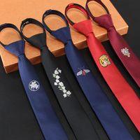 Wholesale zipper ties resale online - Mens Ties Lazy Necktie Zipper Slim Black Men S Tie Floral Ties cm Ready Bowknot Designers Fashion
