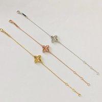 Wholesale new crystal bracelet designs resale online - 2020 New Design silver bracelet high quality jewelry fashion woman retro flower crystal bracelet length CM
