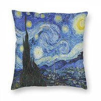 Wholesale impressionism paintings resale online - Art Pillowcase Christmas Pillowcase Art Blue Holland Painting Impressionism Pillow Case Cover Pillowslip For Car Office Home Decor