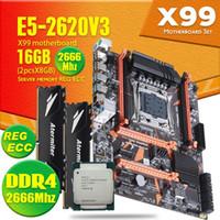 Wholesale Atermiter X99 D4 DDR4 Motherboard Set With Xeon E5 V3 LGA2011 CPU GB GB MHz DDR4 PC4 Memory REG ECC RAM