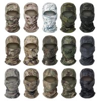 Wholesale cs day for sale - Group buy Chiefs Camouflage Hood Outdoor Riding Sun Protection Mask Quick Drying Mesh Fabric CS Hood Hot Sale Colors
