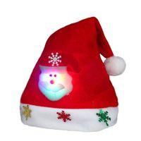 Wholesale adult santa claus hats resale online - Christmas Hat Xmas Mini Red Santa Claus Snowman Deer Party Decor Christmas Caps Decorations beanie for kids adult Tableware Holder CCB2314