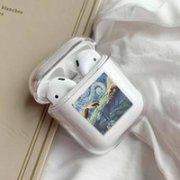 Wholesale samsung bluetooth airpods online – Fashion Airpods1 Case Creative Pattern Private Custom Airpods Pro Case Bluetooth Headset Protective Cover Transparent