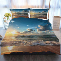 Wholesale beautiful capes resale online - Christmas Halloween Thanksgiving Piece Duvet Cover Sets Nature Scenery Beautiful Clouds Cape Quilt Bedding Comforter Bedding Sets