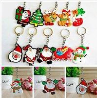 Wholesale christmas santa key resale online - Cartoon Christmas tree PVC Santa Claus Keychain Christmas Gift XMAS Key ring Key chains Christmas decorations souvenir ZZF2306