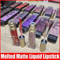 Wholesale melt cosmetics resale online - Lip Makeup Melted Matte Lip Gloss Sexy Cosmetics Matte Liquified Lipgloss Waterproof Lasting No Stick Liquid Lipsticks