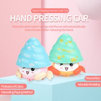 Wholesale mini crab resale online - Mini Cute Hermit crab Toy Lovely Crab Shape mini car Mini Hand pressing Hermit crab Toy Kid Baby Christmas Gift