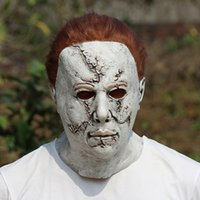 Wholesale mask michael myers resale online - Halloween Michael Myers Mask Horror Carnival Mask Masquerade Cosplay Adult Full Face Helmet Halloween Party Scary Major Masks RRA3672