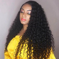 Wholesale unprocessed human hair lace closure resale online - Brazilian Virgin Hair Deep Wave Bundles With x4 Lace Closure Unprocessed Virgin Hair Extensions Indian Human Hair Bundles with Closure