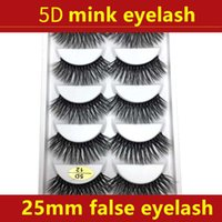 Wholesale mixed tray eyelash for sale - Group buy mm D Mink Eyelashes pair set Lashes Packing In Tray Label Makeup Dramatic Long Mink Lashes