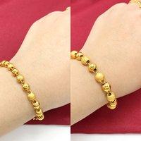 Wholesale polishing shop for sale - Group buy KQnA6 shop the Vietnamese round sand gold women s copper plated bracelet K frosted gold polished same bead bracelet WPzpv