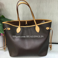 High Grade Quality Women Shopping bag Handbag shoulder purse date code serial number checker tote grid flower