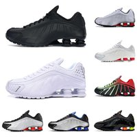 Wholesale usa mens soccer resale online - 2020 R4 mens running shoes fashion trainers Comet Red triple Black Metallic gold silver USA Racer blue men sports sneakers joggi