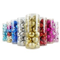 Wholesale accessories ps 4 for sale - Group buy decorations cm bright powder PVC barreled PS ball multicolor Christmas tree pendant accessories